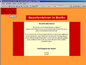 Screenshot Saxophonunterricht in Berlin